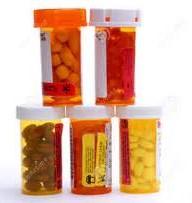 5 bottles of medication