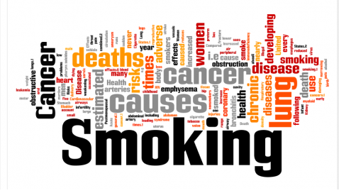 antismoking slogans in a word cloud
