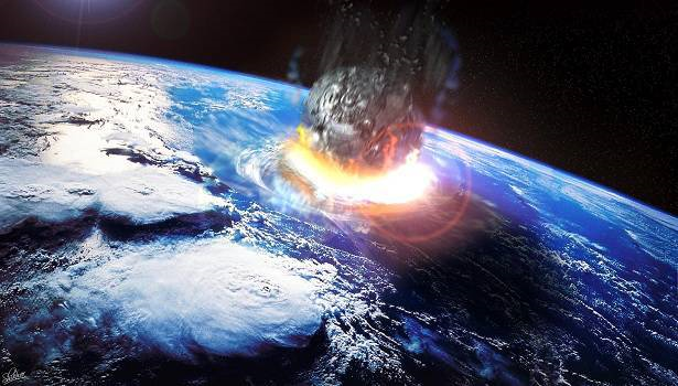 Image of Asteroid impacting the earth from the film Deep Impact